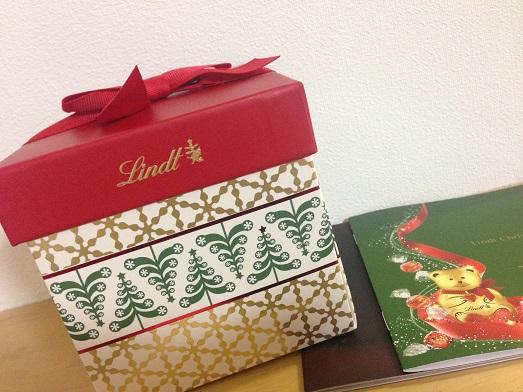 リンツのクリスマス限定のギフトボックス、めっちゃかわいい❤