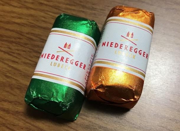 NIEDERREGGERのチョコレート
