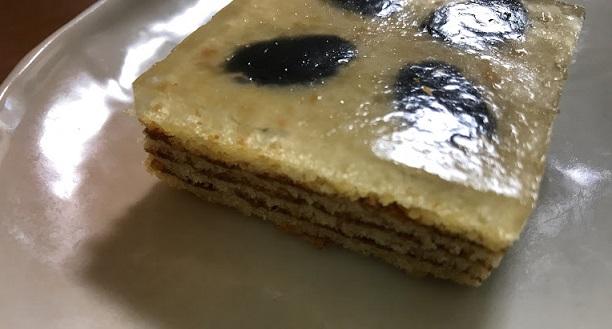 わらび餅のバウム【黒豆】きれい