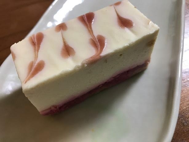 ホワイトベリーのレアチーズケーキ【季節限定/冬】