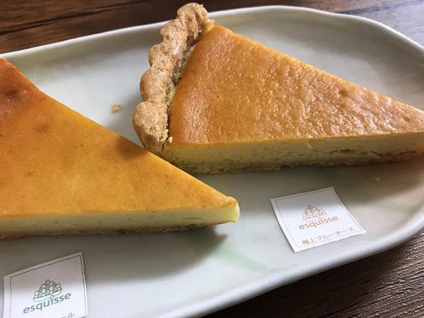 ブルーチーズを使ったチーズケーキの食べ比べは贅沢