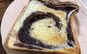サクサクの食パンにあんこの甘さが・・・・
