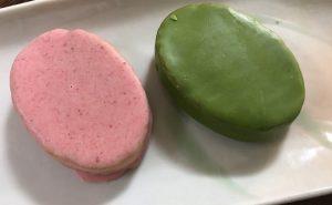 緑、ピンクのコントラストが素敵でしかない