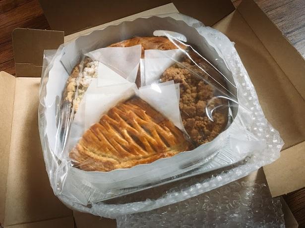 4種類のアップルパイがこんな風に入って届きます
