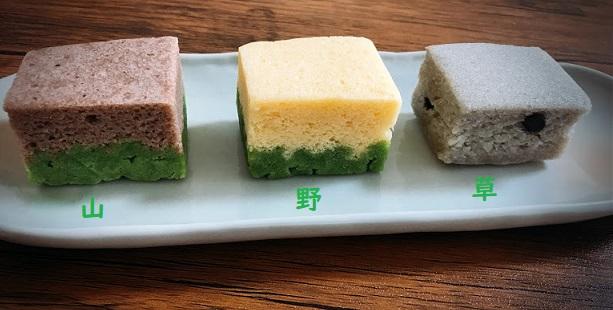 3つ味わって完成する和菓子